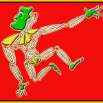 """Dance Warrior 13  red and green"" by JimmyGlennGreenway"