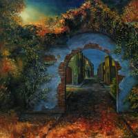 mystery town Art Prints & Posters by Radoslav Nedelchev