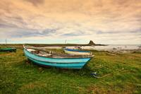 Holy Island and the old boat