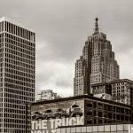 """Detroit Cityscape - Penobscot Building"" by JamesHowePhotography"