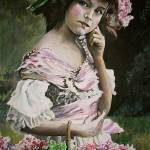"""Victorian Girl and Flowers"" by Kevinmeredith"