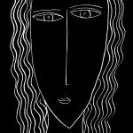 """""""Portrait of a woman with long hair"""" by julienicholls"""