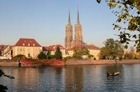 Wroclow's Cathedral and Oder River