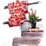 """Kimono Wall - Hana Restaurant"" by WilliamDunn"