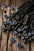 Old worn typewriter keys