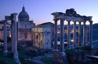 Imperial Fora at sunrise, Rome, Italy