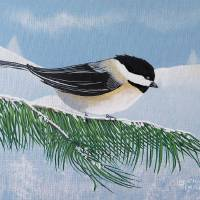 Chickadee Art Prints & Posters by Eileen Blair