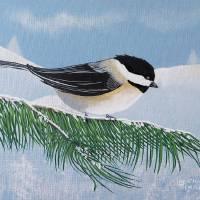 Chickadee Art Prints & Posters by Eileen Blair