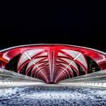 """Calgary Peace Bridge - Symmetrical"" by Mottull"