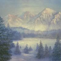 SNOWY MOUNTAINS Art Prints & Posters by lorelei wozniak