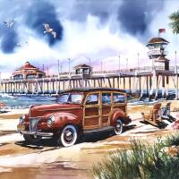 Surf City Art Prints & Posters by Bill Drysdale