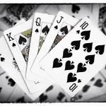 """Playing Cards Royal Flush with Digital Border"" by NatalieKinnear"