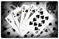 Playing Cards Royal Flush with Digital Border