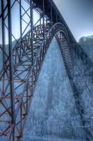New River Gorge Bridge in January
