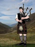 bagpiper from the highlands