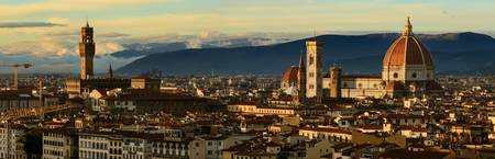 Stunning panoramic print of Florence at sunset