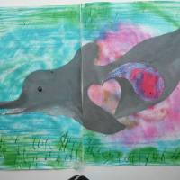 Shaney, the pregnant dolphin Art Prints & Posters by FRANK CRAVEN