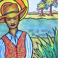 Gullah Boy Art Prints & Posters by Sharon Reilly