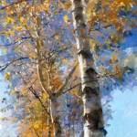 """autumn birches"" by bogfl"