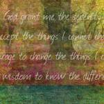 """The Serenity Prayer art"" by goldenslipper"