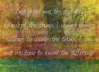 The Serenity Prayer art