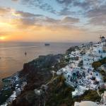 """Stunning photo of Santorini at sunset"" by emporoslight"