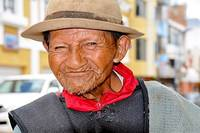Street Person in Cotacachi, Ecuador