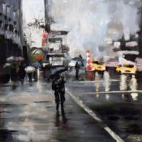Rain in New York City Art Prints & Posters by NOVEEN KASMAEE