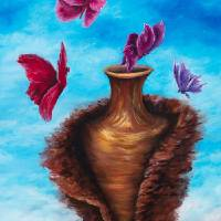 Beauty From Jars of Clay Art Prints & Posters by Suzan Hughes Kennedy