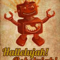 Hallelujah! Robolujah! Art Prints & Posters by Marco Sivieri