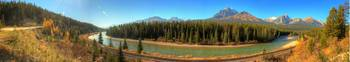 Morant's Curve Panorama, Banff National Park