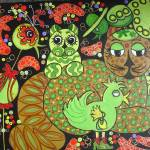 """Whimsical Felines III"" by Braindea"