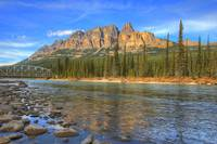 Castle Mountain and Bow River, Canadian Rockies