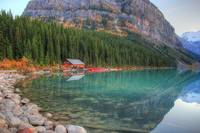 Lake Louise Boat house, Banff National Park