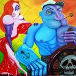 """Popeye and Jessica Rabbit"" by ArtPrints"