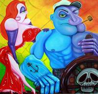 Popeye and Jessica Rabbit