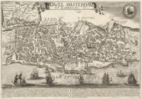 Vintage Map of New Amsterdam (1660)