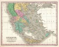 Vintage Map of Greece (1827)