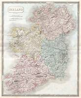 Vintage Map of Ireland (1850)