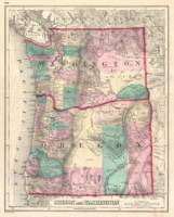 Vintage Map of Washington and Oregon (1875)