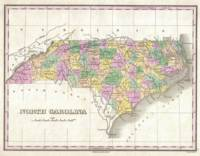 Vintage Map of North Carolina (1827)