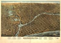 Vintage Pictorial Map of Milwaukee (1872)