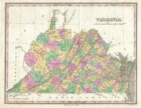 Vintage Map of Virginia (1827)