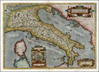 Vintage Map of Italy (1584)
