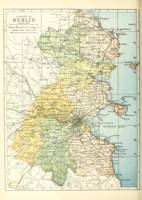 Vintage Map of Dublin Ireland and Surrounding Area