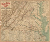 Vintage Map of Virginia Battlefields (1892)