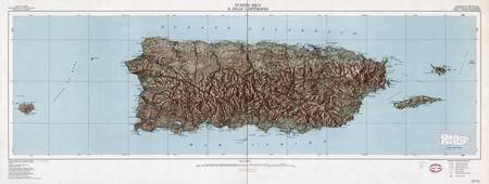Vintage Map of Puerto Rico (1952)