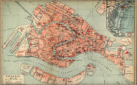 Vintage Map of Venice Italy (1920)