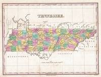 Vintage Map of Tennessee (1827)