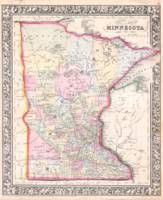 Vintage Map of Minnesota (1864)